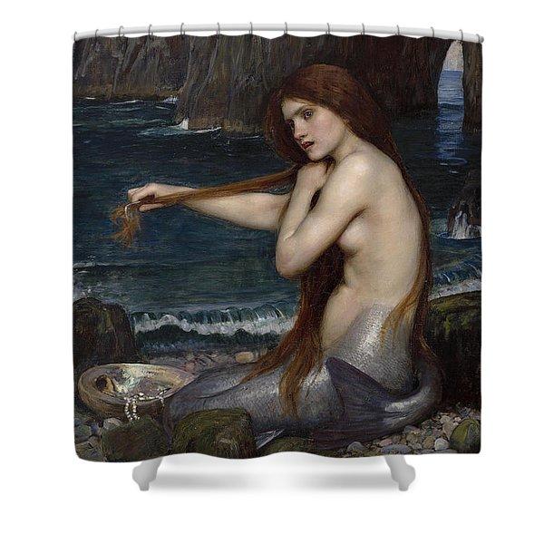 A Mermaid, 1900 Shower Curtain