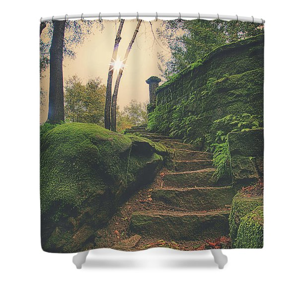 A New Story Begins Shower Curtain