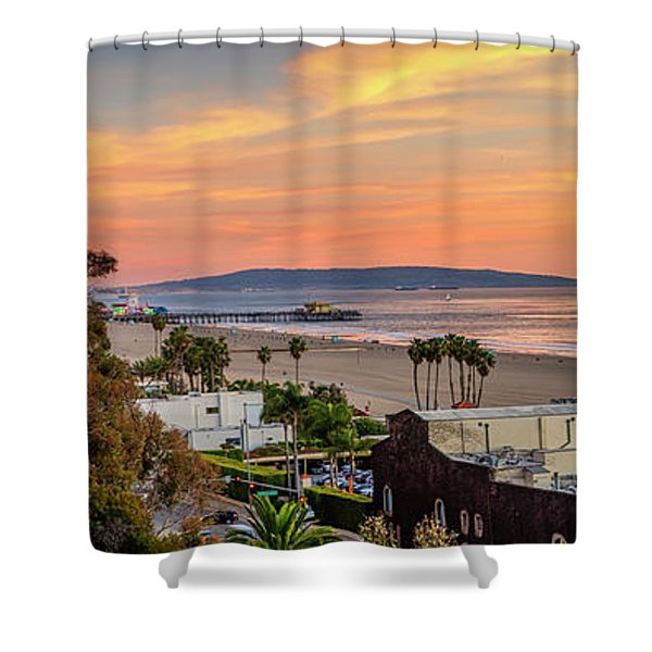 A Nice Evening In The Park - Panorama Shower Curtain