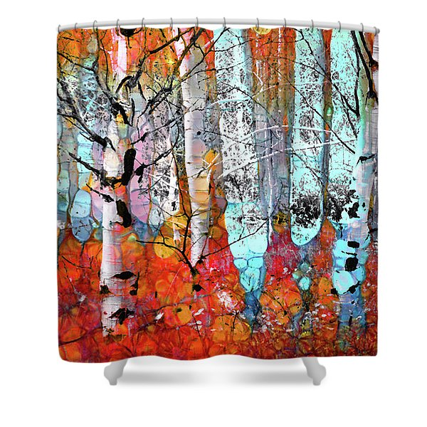 A Party In The Forest Shower Curtain