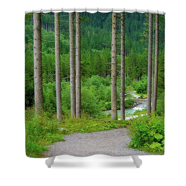 A Path To The River Shower Curtain