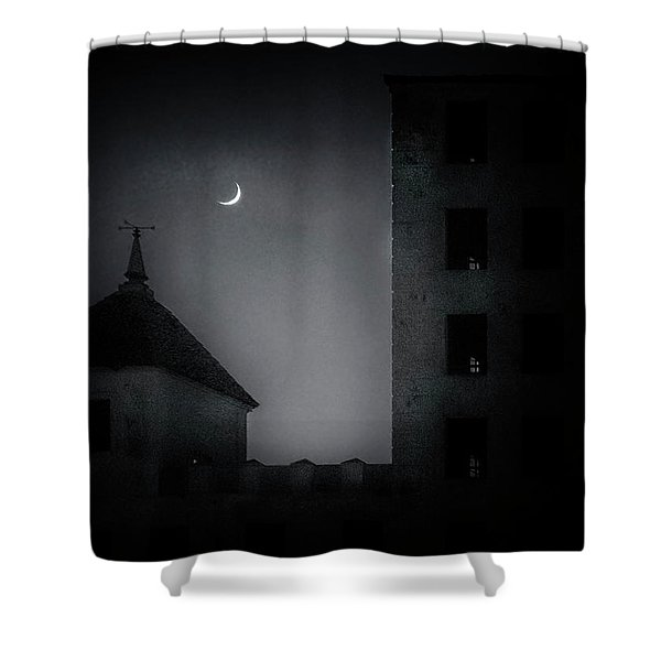 A Peak Through The Dark Shower Curtain