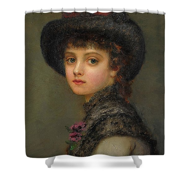 A Portrait Of A Young Lady Shower Curtain