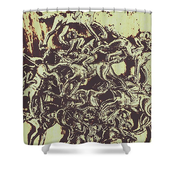 A Punters Mixed Bag Shower Curtain
