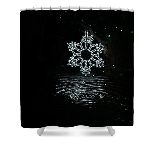 A Ripple Of Christmas Cheer Shower Curtain