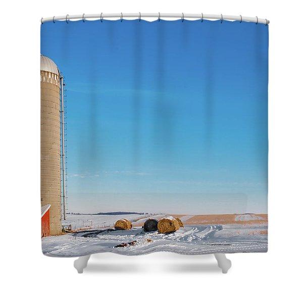 A Silo Alone Shower Curtain