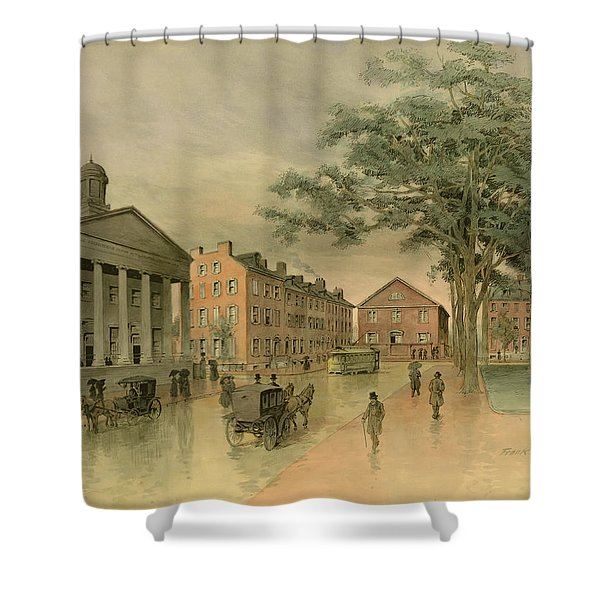 A Southwestern View Of Washington Square Shower Curtain