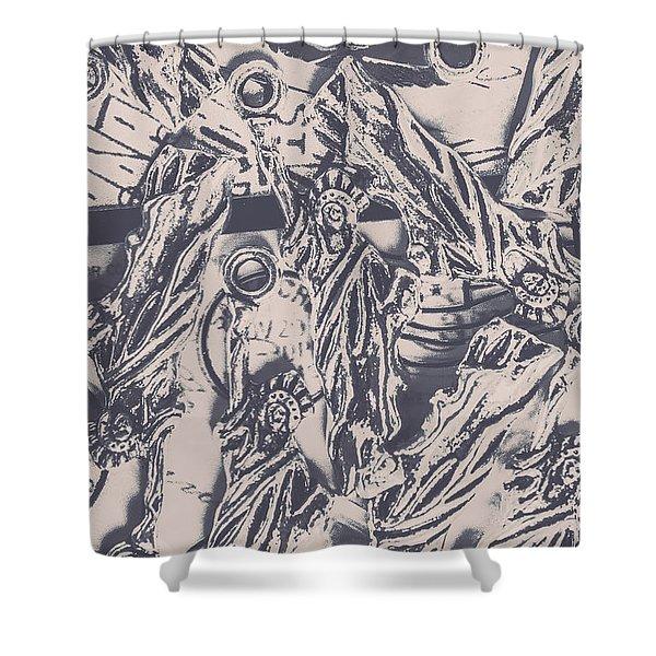 A Souvenir Of Statues Shower Curtain
