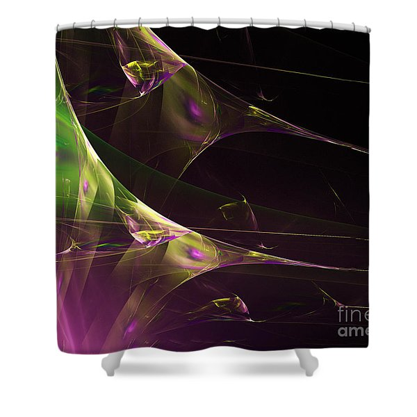 A Space Aurora Shower Curtain
