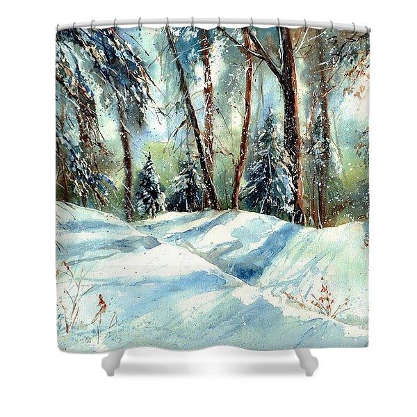 A True Winter Wonderland Shower Curtain