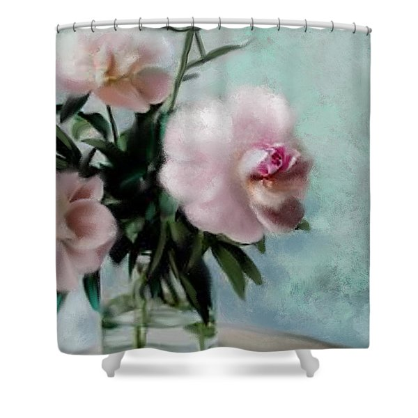 A Vase Of Peonies Shower Curtain