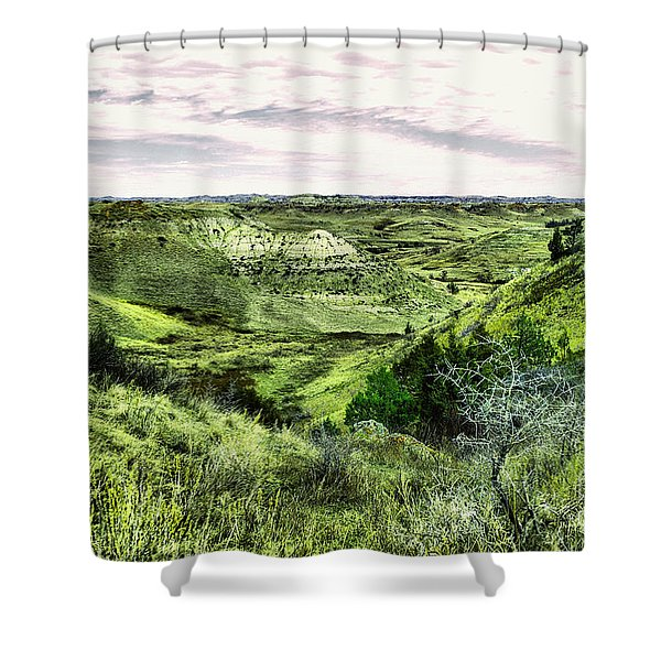 A View Into The Badlands Shower Curtain