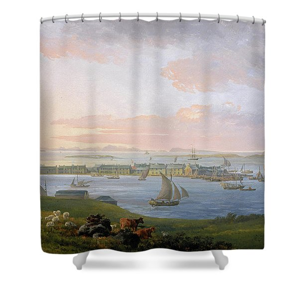 A View Of Stornoway, 1798 Shower Curtain