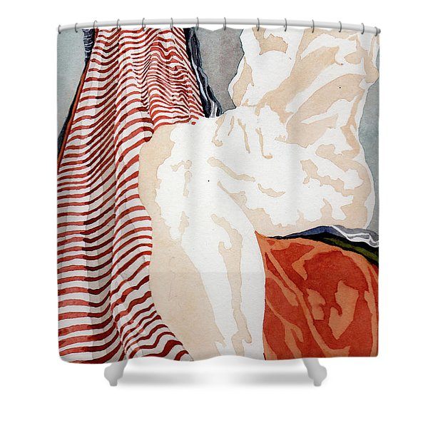 A View Up A Steep Incline Shower Curtain