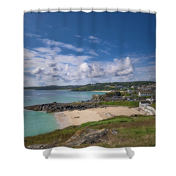 A Walk To Porthgwidden Beach - St Ives Cornwall Shower Curtain