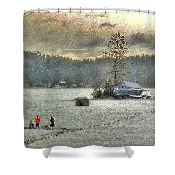 A Warm Glow On A Cool Scene Shower Curtain