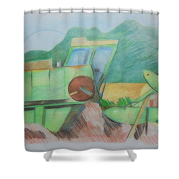Abandoned Combine Shower Curtain