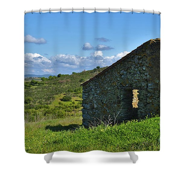 Abandoned Cottage In Alentejo Shower Curtain