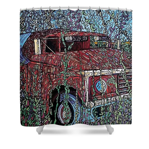 Abandoned Oil Truck  Shower Curtain