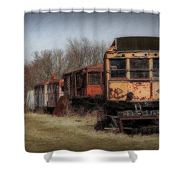 Abandoned Train Shower Curtain