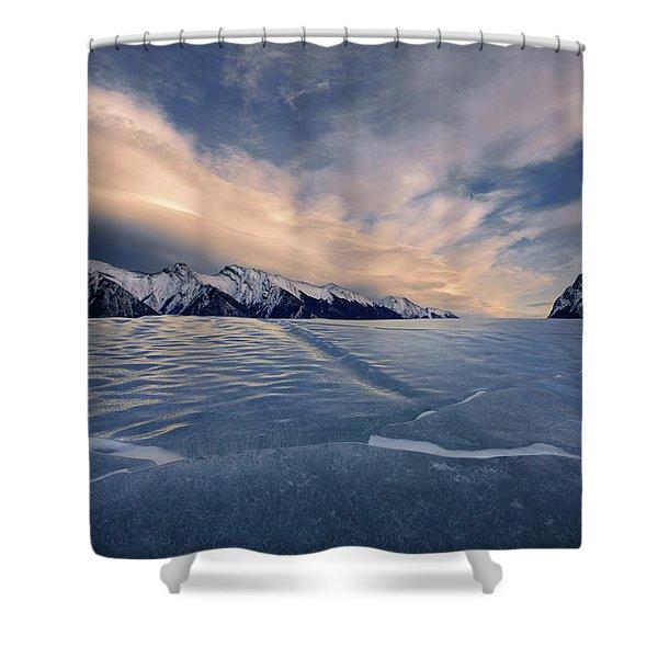 Abraham Lake Ice Wall Shower Curtain