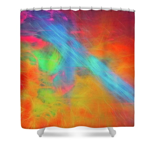 Abstract 51 Shower Curtain