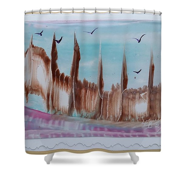 Abstract Castles Shower Curtain