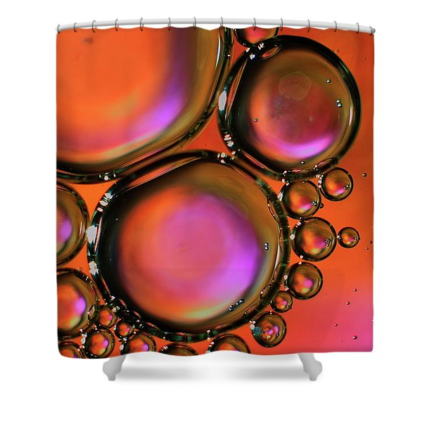 Abstract Droplets Shower Curtain