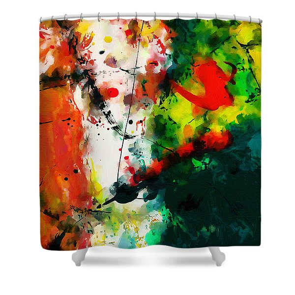 Abstract - Dwp443292860 Shower Curtain