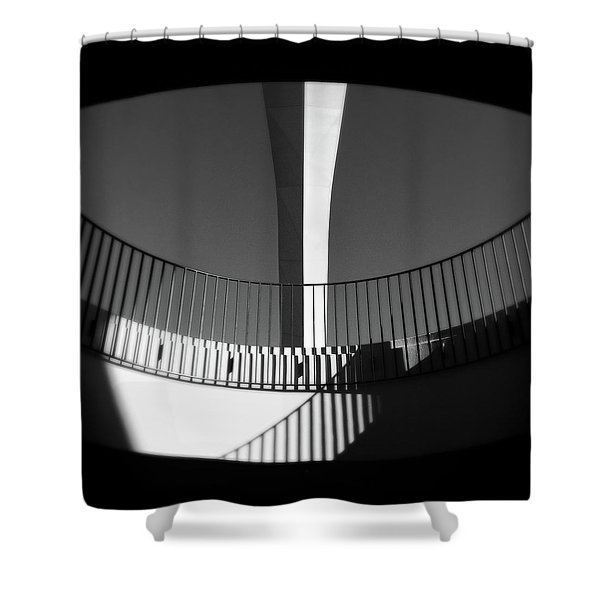 Abstract Encounter Shower Curtain