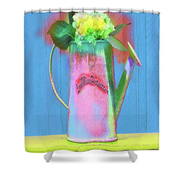 Abstract Floral Art 377 Shower Curtain