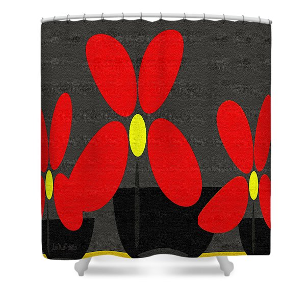 Abstract Floral Art 393 Shower Curtain
