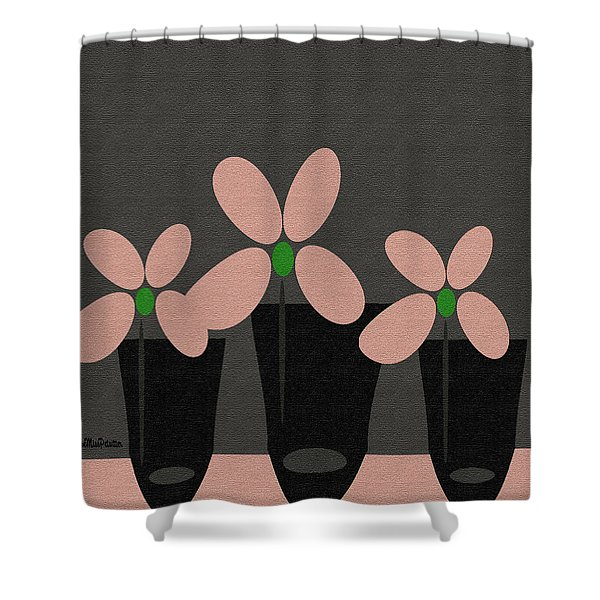 Abstract Floral Art 394 Shower Curtain