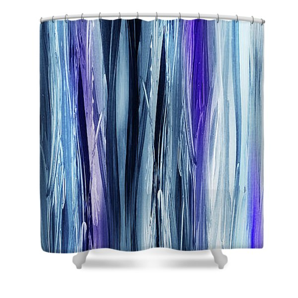 Abstract Flowing Waterfall Lines I Shower Curtain