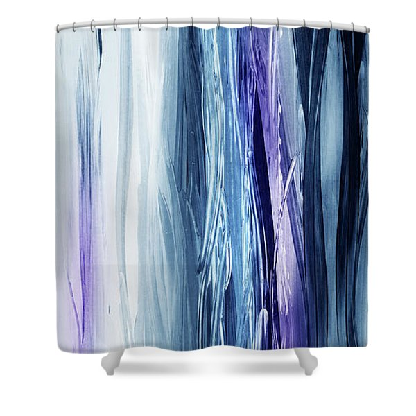 Abstract Flowing Waterfall Lines IIi Shower Curtain