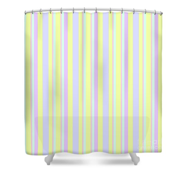 Abstract Fresh Color Lines Background - Dde595 Shower Curtain