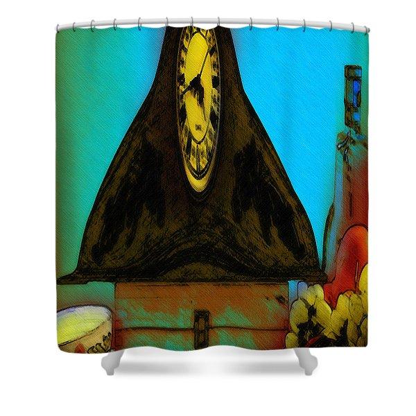 Abstract Fruit Art   139 Shower Curtain