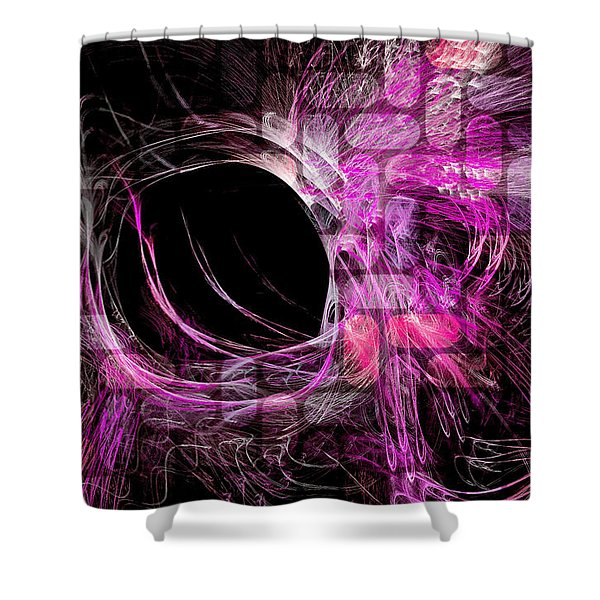 Abstract Heaven Magenta Shower Curtain