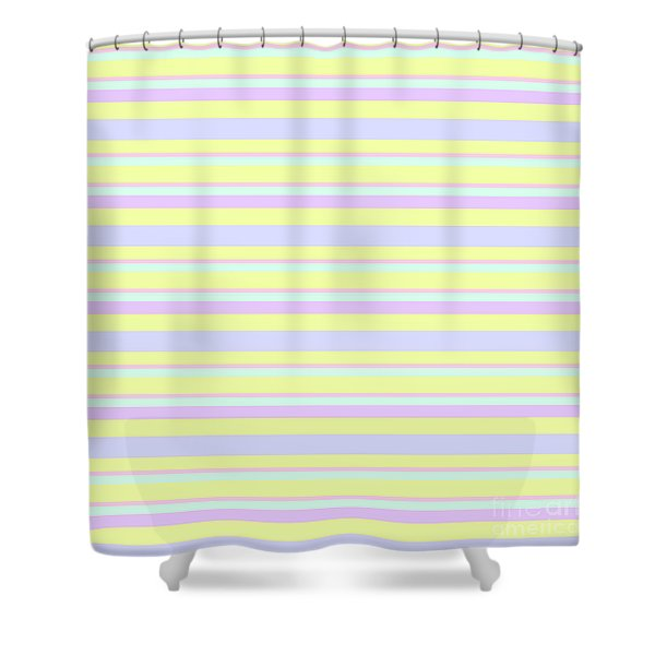 Abstract Horizontal Fresh Lines Background - Dde596 Shower Curtain