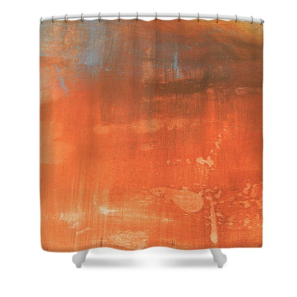 Abstract In Orange Shower Curtain