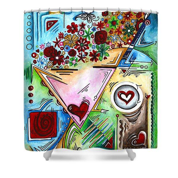 Abstract Pop Art Face Art Original Empowered Painting By Megan Duncanson Shower Curtain