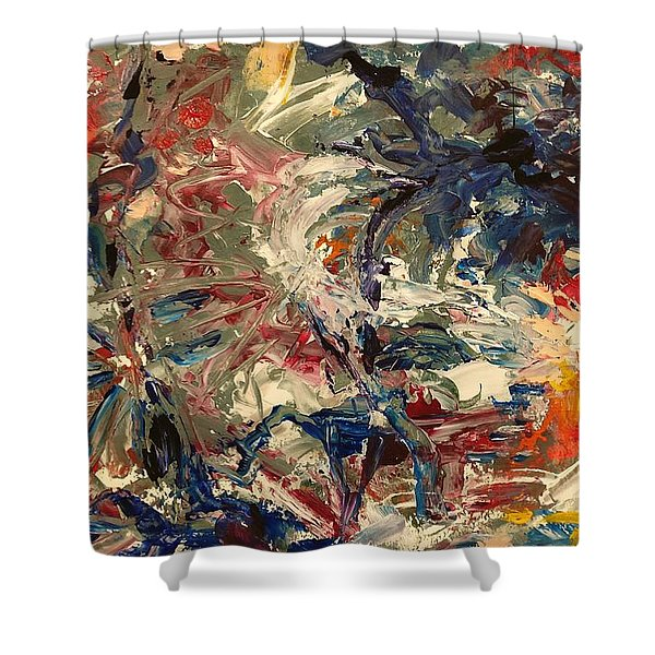 Abstract Puzzle Shower Curtain