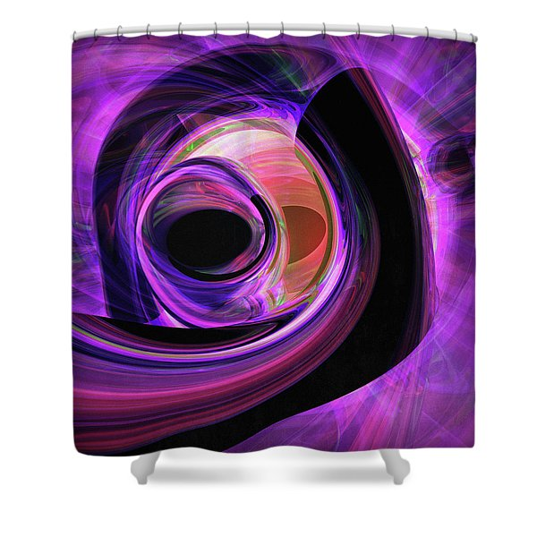 Abstract Rendered Artwork 3 Shower Curtain