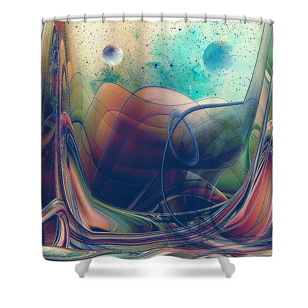 Shower Curtain featuring the digital art Turbulence by Robert G Kernodle