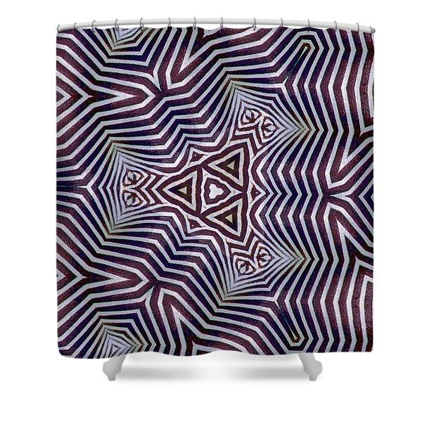 Abstract Zebra Design Shower Curtain