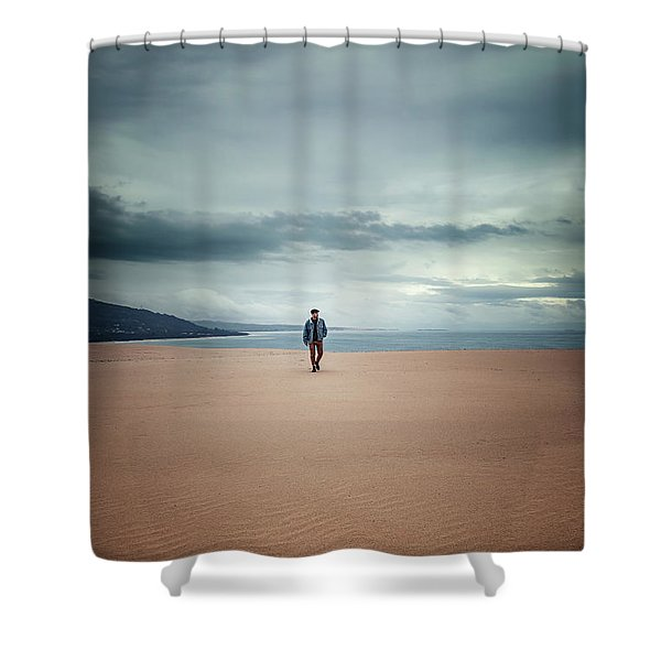 Across The Sands Of Time Shower Curtain
