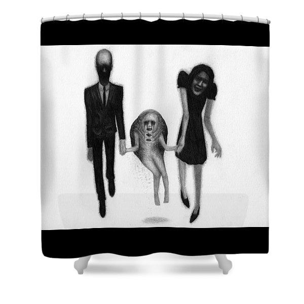 Adeline's Family - Artwork Shower Curtain