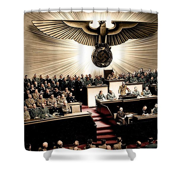 Adolf Hitler Declaring War On America  Dec  11th  1941 Shower Curtain