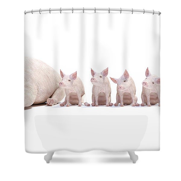 Adorable Little Family Shower Curtain