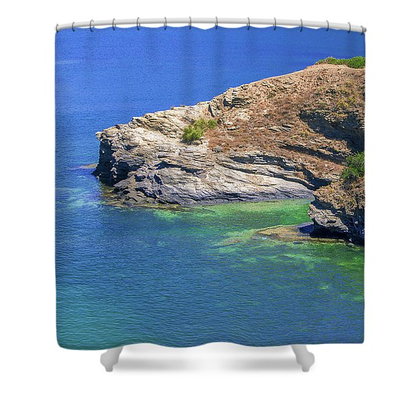 Aegean Coast In Bali Shower Curtain
